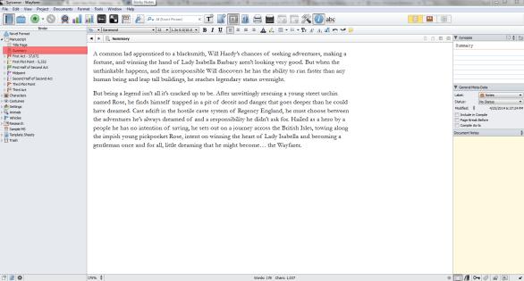 Scrivener Wayfarer Summary