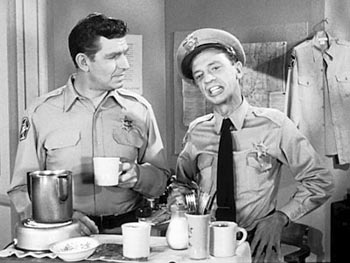 Andy Taylor and Barney Fife Up in Barney's Room