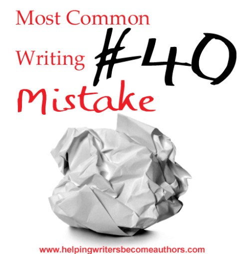 Most Common Writing Mistakes, Pt. 40: Unnecessary Scenes