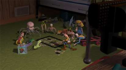 Woody's Plan in Sid's Room Toy Story