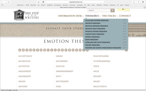 Emotion Thesaurus and Thesaurus TOC One Stop for Writers