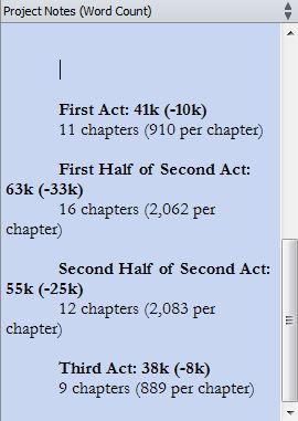 Chapter Word Count Goals for Wayfarer's First Draft
