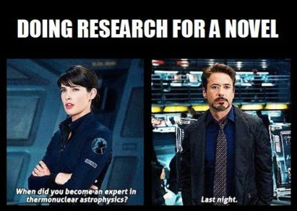 Doing Research for a Novel Avengers