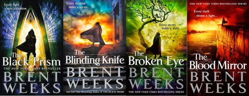 The Lightbringer Series by Brent Weeks is an excellent example of how to write a book readers can't put down.