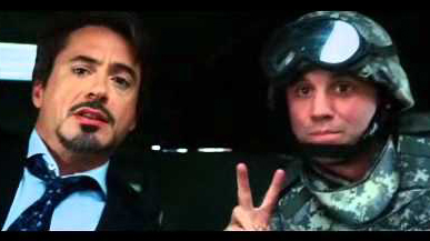 Peace Sign Tony Stark Iron Man Soldier