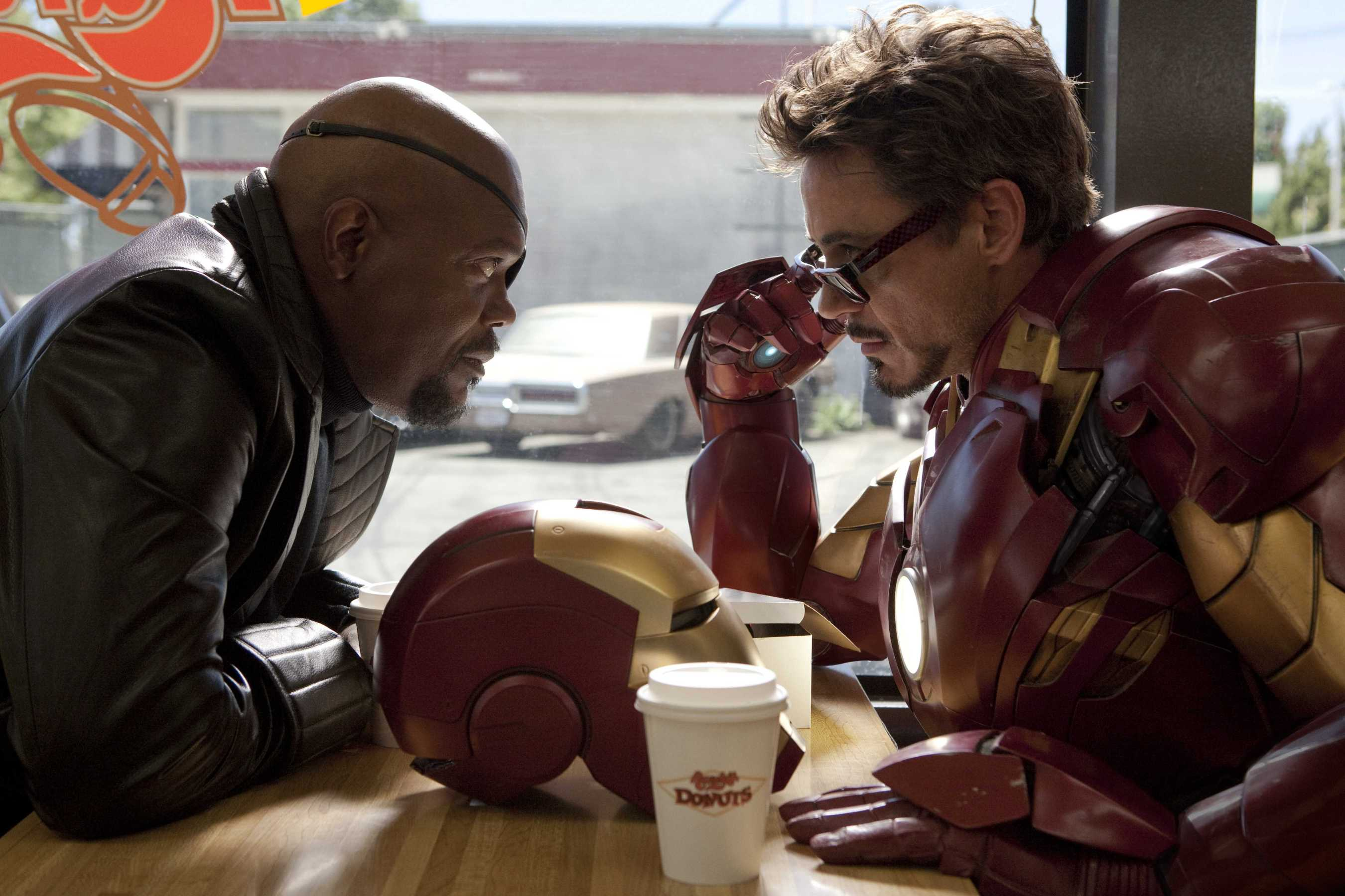 Iron Man 2 Tony Stark Nick Fury Donuts