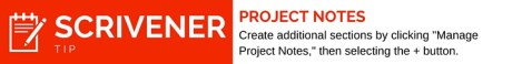 Scrivener Tip Project Notes