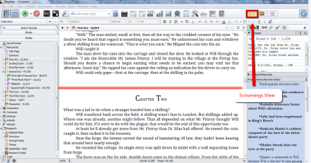 Scrivenings View in Scrivener