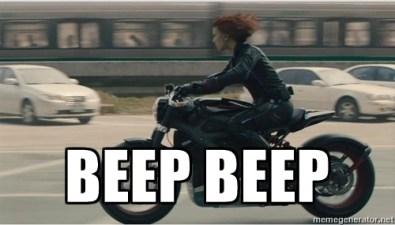 Black Widow Beep Beep