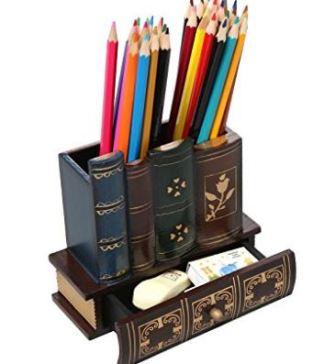 Gift for Writers 13: Book-Themed Pencil Organizer