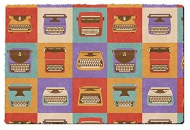 gift for writers 15 retro typewriters doormat