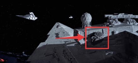 Representative Actions Star Wars Empire Strikes Back Millennium Falcon on Star Destroyer