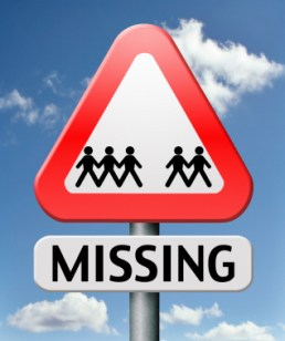 Missing Person Road Sign
