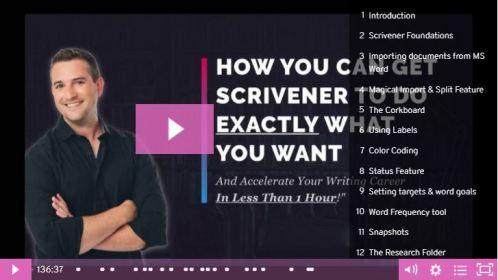 Learn Scrivener Masterclass Webinar