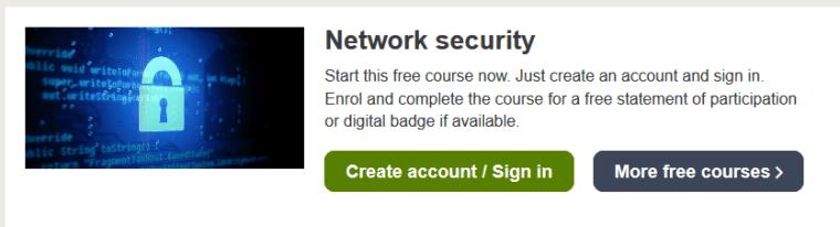Open edu Network Security course