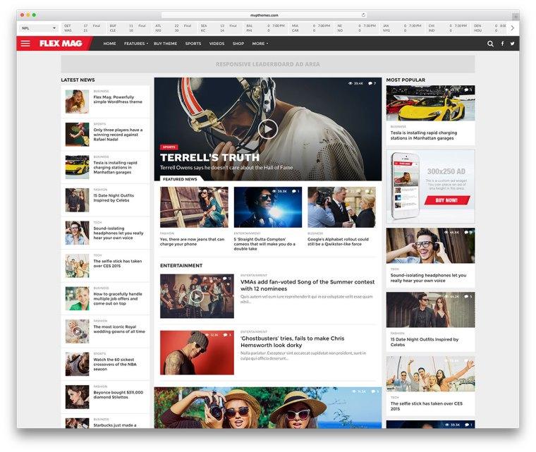 Flex Mag WordPress Theme