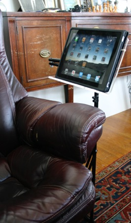 chair side book stand stool dream meaning ipad tablet floor read comfortably in any sofa or bed lectern swings to either of desk when not use