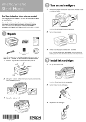 Epson WorkForce WF-2750 Support and Manuals