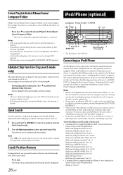 Alpine CDE-122 Support and Manuals