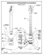 Fender American Elite Stratocaster Left-Hand Support and