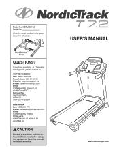 NordicTrack T 7.2 Treadmill Support and Manuals