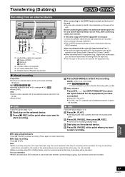 Panasonic Dvd/vhs Recorder Model Dmr-es40v, What Does