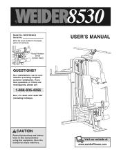 Weider 8530 Manuals
