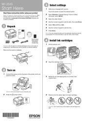 Epson WorkForce WF-3540 Manuals