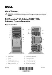 Dell Precision T7500 Manuals