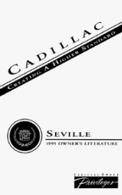 1995 Cadillac Seville Manuals and Owner Guides