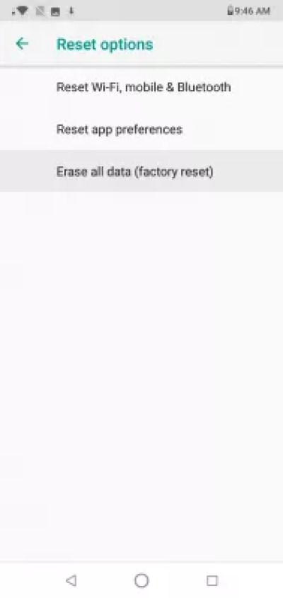 How to factory reset Android phone? : Android system reset options