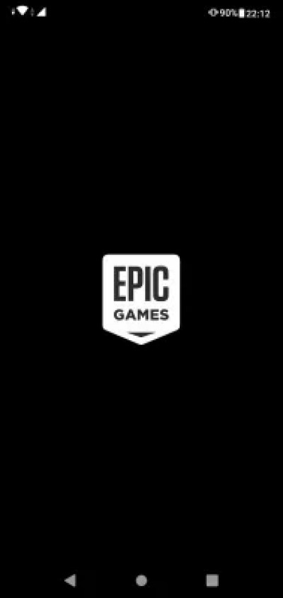 Download and install mobile Fortnite from the Epic store for Android : Starting Epic store for Android