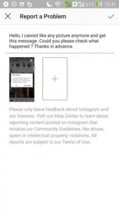 How to solve Instagram action blocked error? : Instagram report a problem