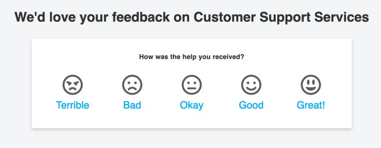 An Example of a CSAT Survey