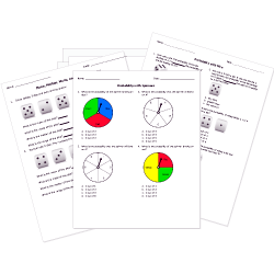 Statistics and Probability Tests and Worksheets for
