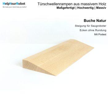 Türschwellenrampen aus Massivholz für Saugroboter - Buche Natur