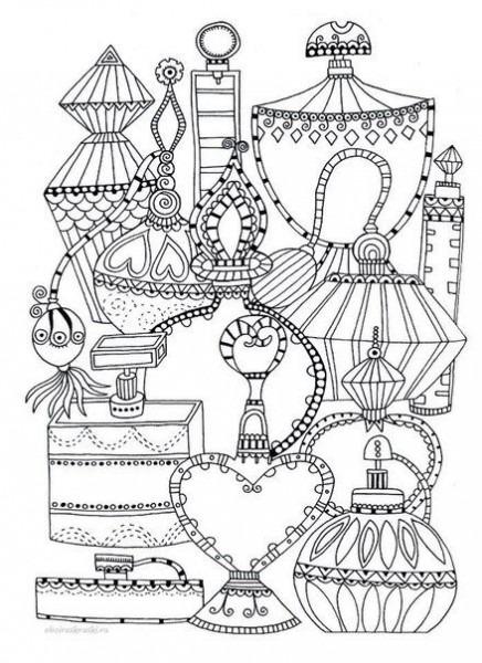 Dibujos Para Colorear De Perfumes