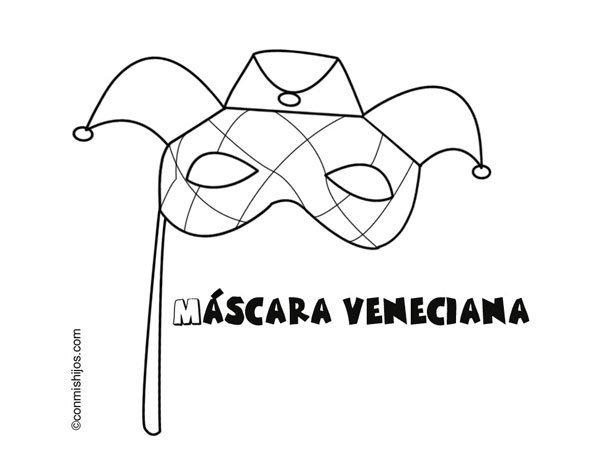 Mascaras Venecianas Para Imprimir Y Colorear