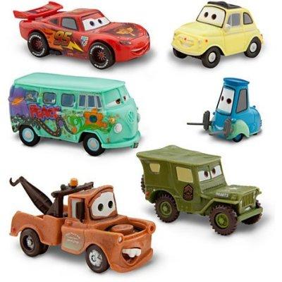 DISNEY-PIXAR-CARS-FIGURINE-SET-Lightning-McQueen-Tow-Mater-Martin-Sarge-Guido-Luigi-et-Fillmore-PVC-Plastic-0