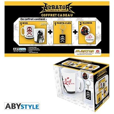 Albator-Coffret-cadeau-Mug-porte-cls-Badges-emblme-0