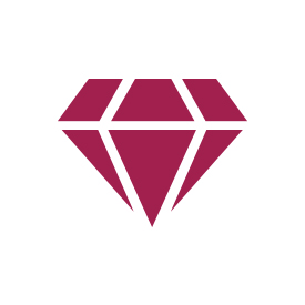 Sapphire & Diamond Circle Pendant in 10K White Gold