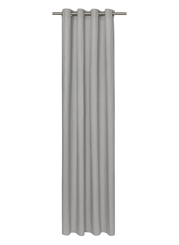 rideau pret a poser avec anneaux gris