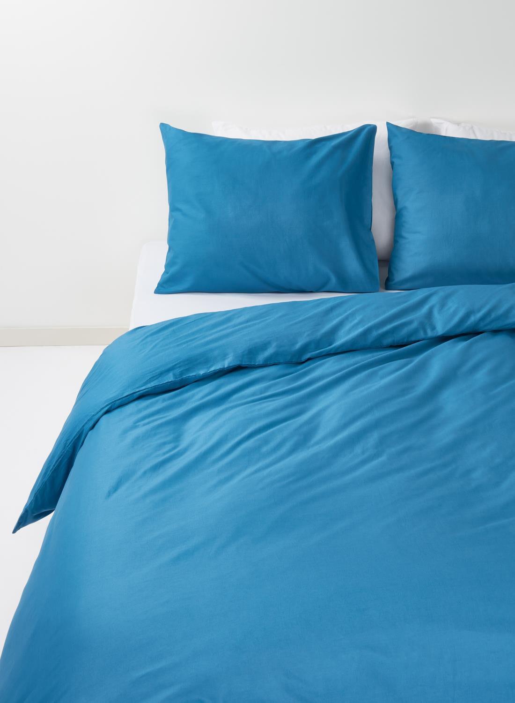 dekbedovertrek  zacht katoen  240 x 220 cm  blauw  HEMA