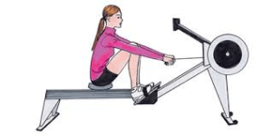 155 workout - rowing machine