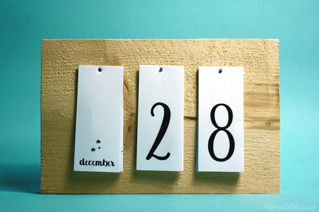 eindresultaat kalender jaar hemelsblauw
