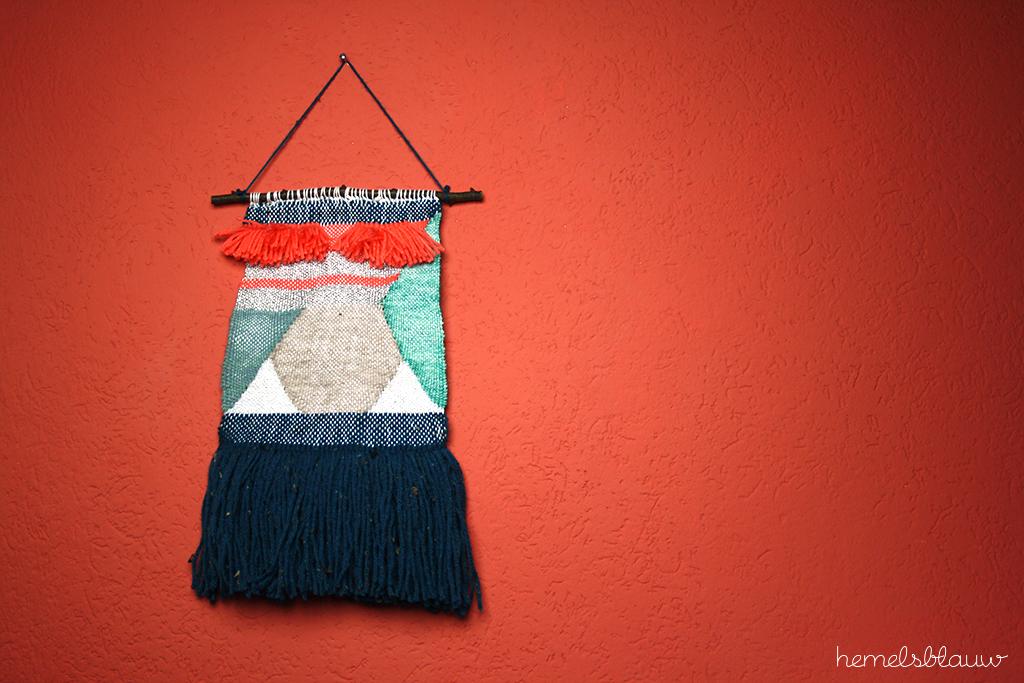 woven weaving hemelsblauw diy blog wall hanging