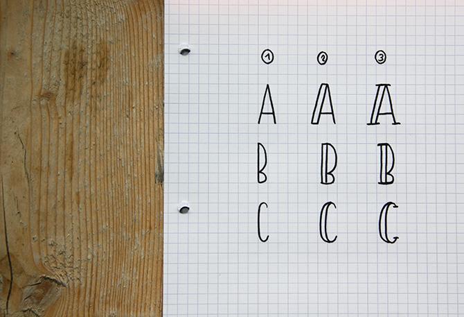 handletteren lettervariaties