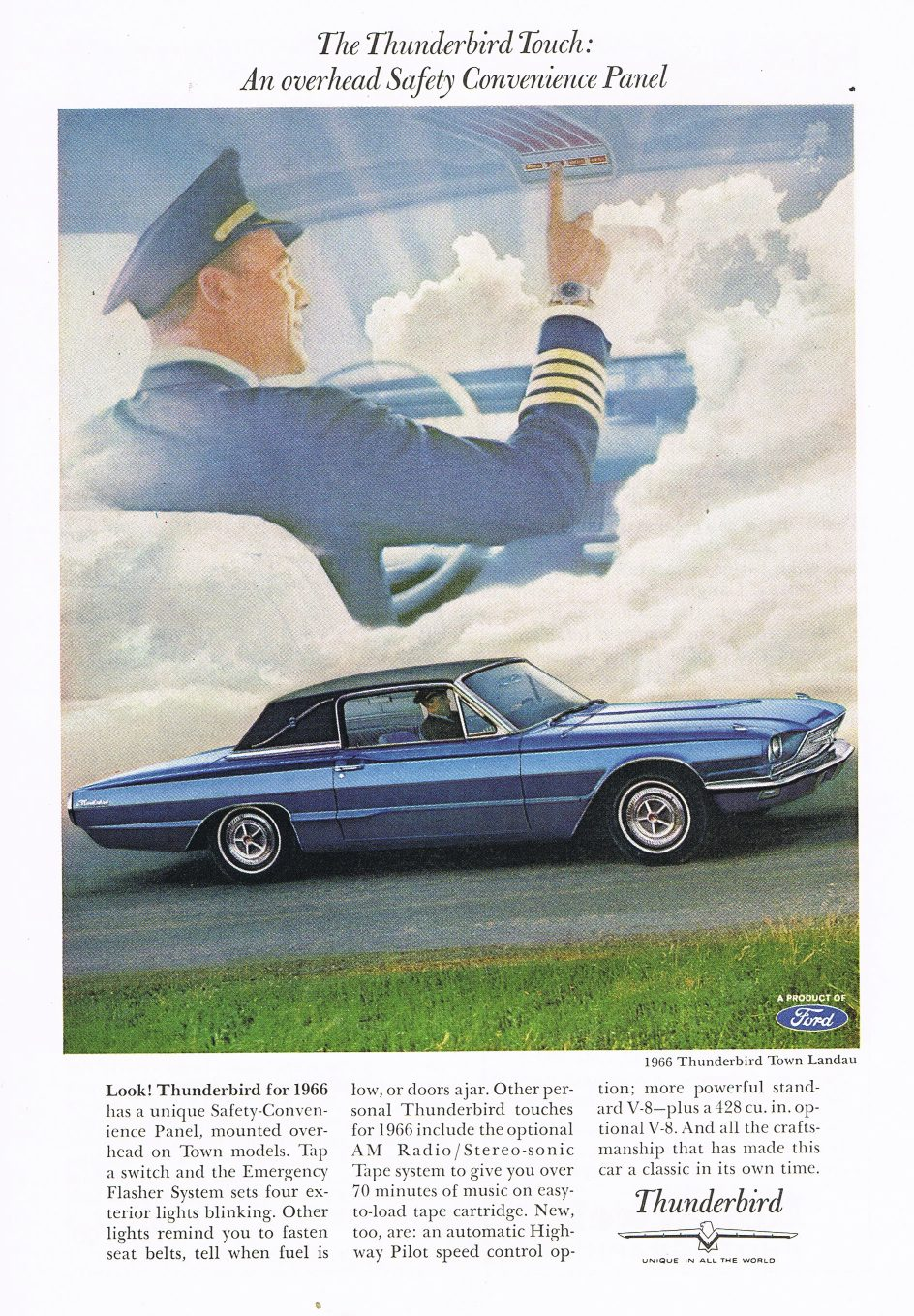 hight resolution of ford 1966 thunderbird overhead panel copy
