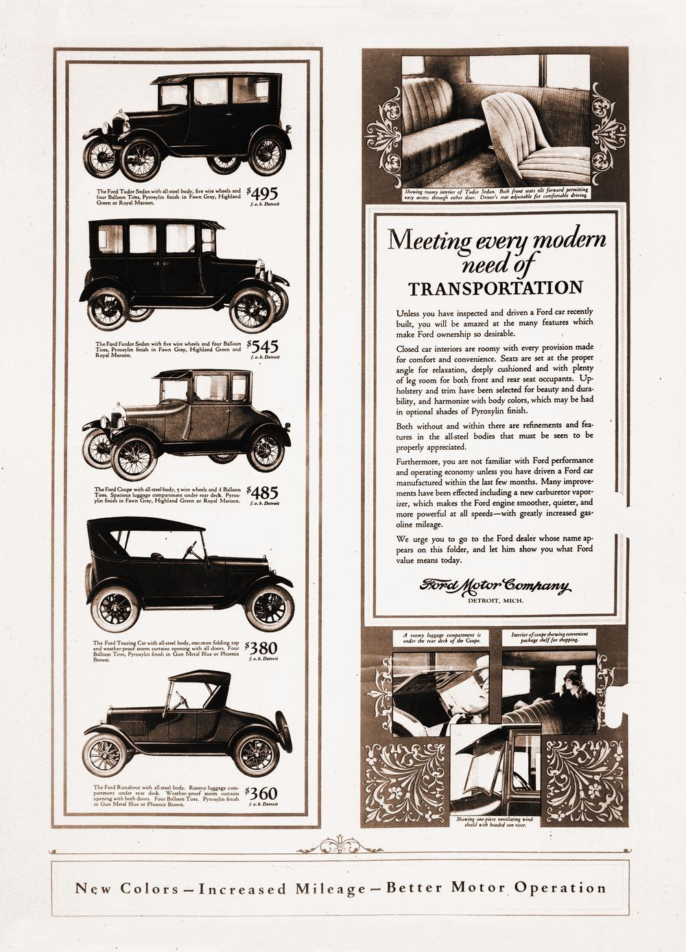 hight resolution of the ford motor company continuously advertised the t s myriad styles and its practical features
