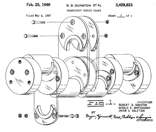 small resolution of most automotive crankshafts control thrust with the main bearing design some large industrial and diesel engines employed bolt on thrust plates